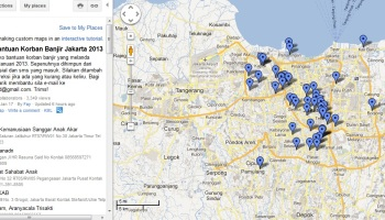 Official digital map to monitor jakarta flood jakarta by train unofficial digital map for jakarta flood victim support center publicscrutiny Image collections