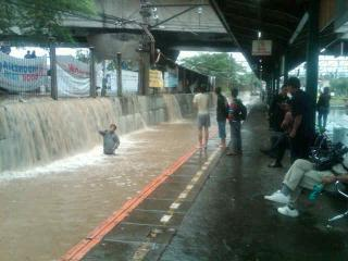 Stasiun Tanah Abang Banjir