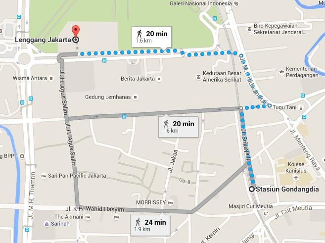 Lenggang Jakarta Map