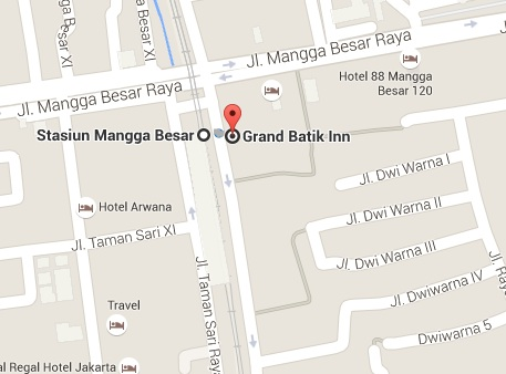 Grand Batik Inn Map