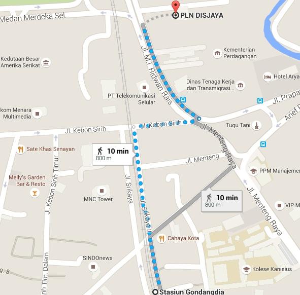 PLN Gambir Map