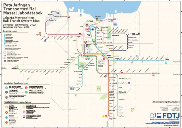 Jakarta Integrated Rail Transit Map Jakarta By Train