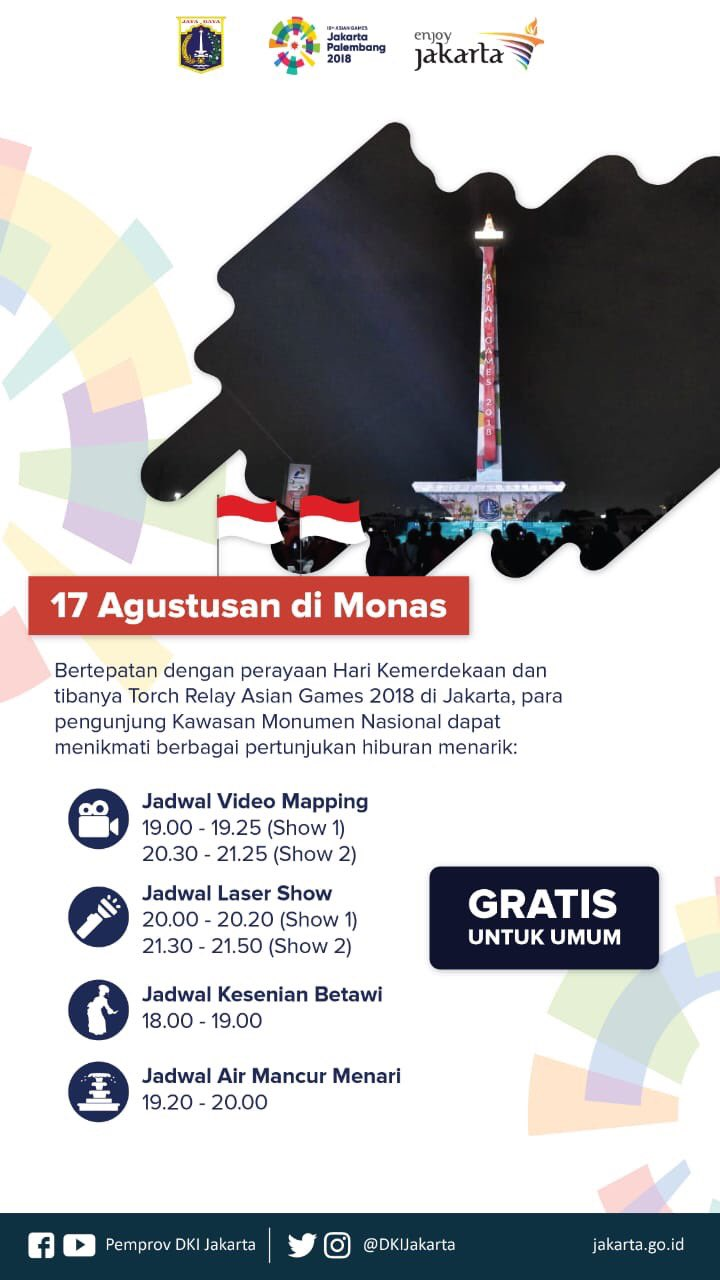 17 Independence Day At Monas Jakarta By Train Tiket Gelang